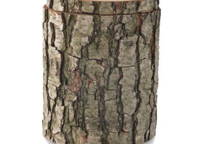 Urne im Holzstamm-Design